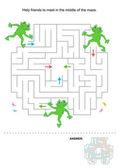 Maze for kids — Stock Vector