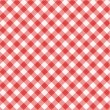 Stock Vector: Red gingham fabric cloth, seamless pattern included