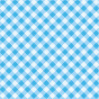 Blue gingham fabric cloth, seamless pattern included — Stock Vector #10395361