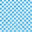 Stock Vector: Blue gingham fabric cloth, seamless pattern included