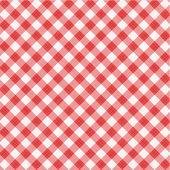 レッド ギンガム チェック織布、シームレスなパターンが含まれています — ストックベクタ