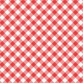 Red gingham fabric cloth, seamless pattern included — Stockvektor