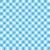 Blue gingham fabric cloth, seamless pattern included — Stock Vector
