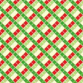 Cuadros navidad fondo, inconsútil patrón incluido — Vector de stock