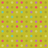 Polka-dot background, seamless pattern included — Stock Vector