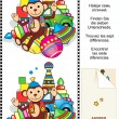trovare le differenze visive puzzle — Vettoriale Stock  #10531538