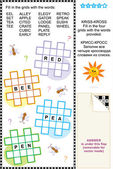 Kriss-kross crossword puzzle — Stock Vector