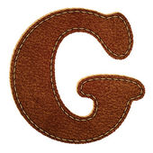 Leather alphabet. Leather textured letter G — Stock Vector