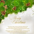 Merry Christmas greeting card - Stok Vektör