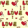 Royalty-Free Stock Vector Image: Seamless love background