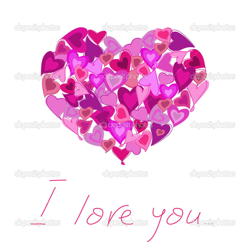 Valentine's day greeting card.  Vector eps10 illustration  Stock Vector #8667245