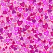 Valentine seamless background with hearts — Stock Vector