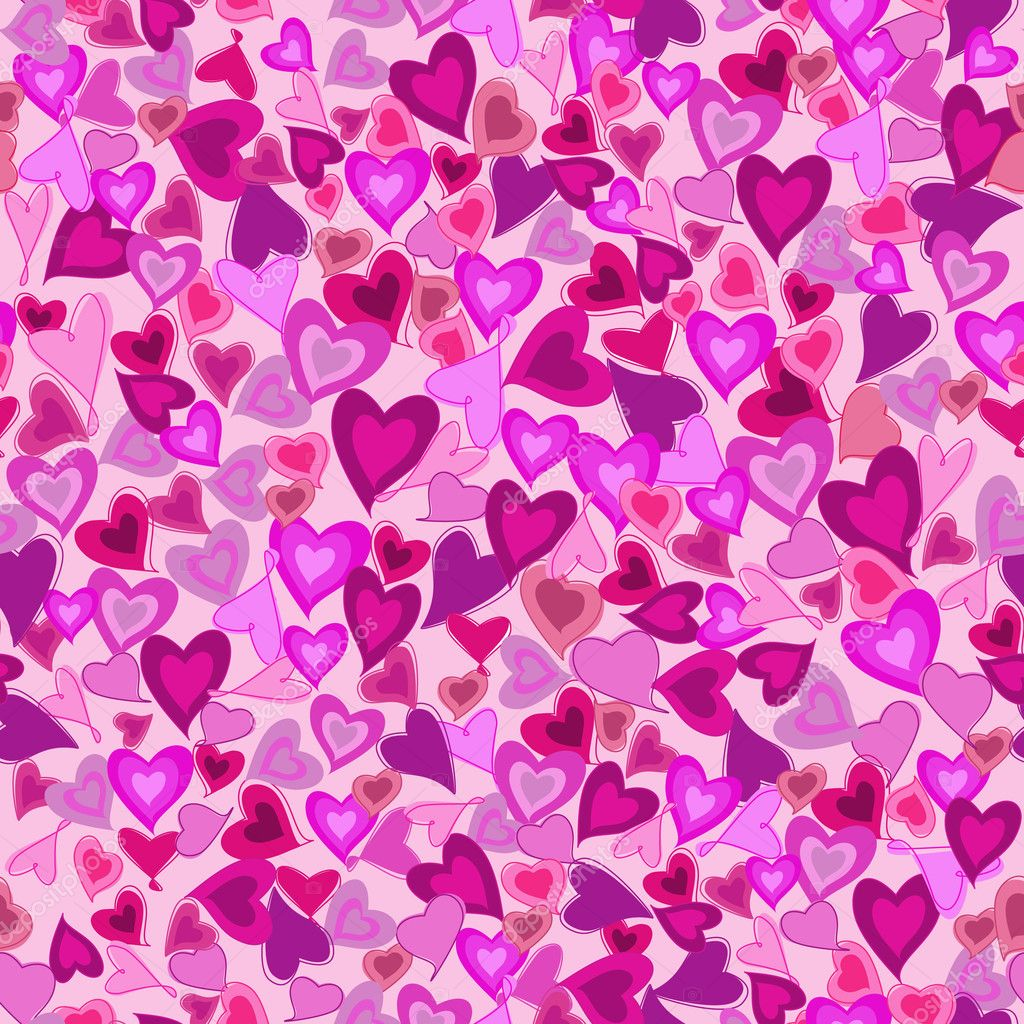 Valentine seamless background with hearts. Vector eps10 illustration  Stock Vector #8738224