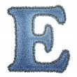 Royalty-Free Stock Vector Image: Jeans alphabet. Denim letter E