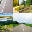 Country roads in different seasons — Stock Photo