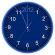 Stock Photo: Blue round clock