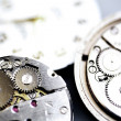 Old metal mechanical clock — Stock Photo