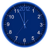 Blue round clock — Stock Photo