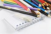 Multi-colored pencils — Stockfoto