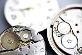 Old metal mechanical clock — Stock Photo