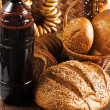 Kvass and grain products - Stock Photo