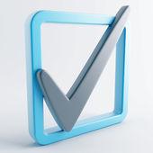 Gri-mavi renkli simge — Stok fotoğraf