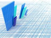 Resumen líneas metálicas — Foto de Stock