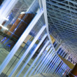 Curved glass partitions — Stock Photo