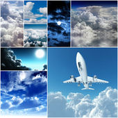 Different kinds of the sky — Stockfoto