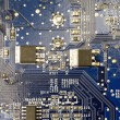 Stock Photo: Dark blue microprocessor panel