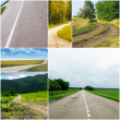 Country roads in different seasons — Stock Photo #9360734
