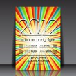 Design for summer party flyer vector — Stock vektor