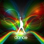 EPS10 Party Vector Background - Dancing Young Men — Stock Vector