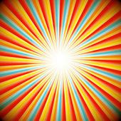 スター バーストの抽象的な背景 — ストックベクタ