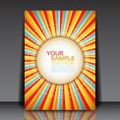 Design for summer party flyer vector — Stock Vector