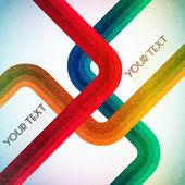 Illustration av färgglada 3d linjer på abstrakt bakgrund — Stockvektor