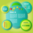 Colorful and Funny Website Template — Image vectorielle