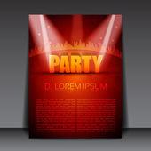 Editable Party Vector Flyer Template — Stock Vector