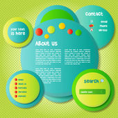 Colorful and Funny Website Template — Stock Vector
