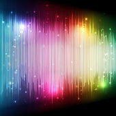 Colorful Equalizer Background — Stock Vector