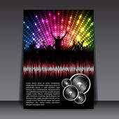 Colorful Party Flyer Template — 图库矢量图片