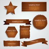 Wood Elements Collection — Stock Vector