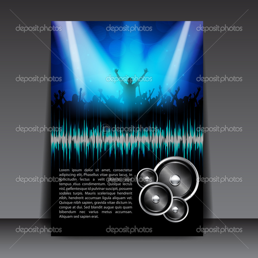 Colorful Party Flyer Template — Stock Vector © hunthomas #9369664