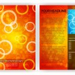 Stock Vector: Circles Brochure Template