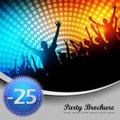 Party Brochure Template — Stock Vector
