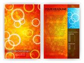 Circles Brochure Template — Stock Vector
