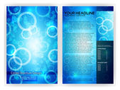 Blue Circles Brochure Template — Stock Vector
