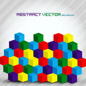 Colorful Abstract Cubes — Stock Vector