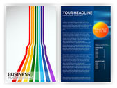 Colorful Brochure Template — Stock Vector