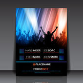 EPS10 Party with Colorful Lights - Flyer Template — Stock Vector